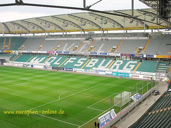 volkswagen arena stadion in wolfsburg. Black Bedroom Furniture Sets. Home Design Ideas